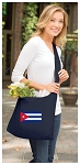 Cuba Tote Bag Sling Style Cuban Flag Shoulder Bag Navy