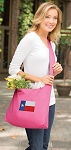 Texas Flag Tote Bag Sling Style Pink