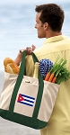 Cuban Flag Tote Bag or Canvas Shopping Bag