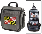Maryland Toiletry Bag or Maryland Flag Shaving Kit Organizer for Him Gray