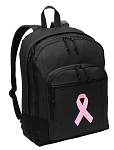 Pink Ribbon Backpack - Classic Style
