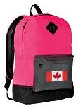 Canada Flag Backpack HI VISIBILITY Pink CLASSIC STYLE