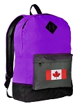 Canada Flag Backpack CLASSIC STYLE Purple