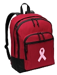 Pink Ribbon Backpack CLASSIC STYLE Red