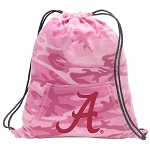 University of Alabama Drawstring Backpack Pink Camo