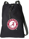 Alabama Drawstring Bag SOFT COTTON Alabama Backpacks Black