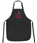 Official University of Alabama Grandpa Apron Black
