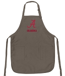 Official Alabama Grandma Apron Tan
