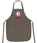 Official UA Alabama Grandmother Logo Apron Tan
