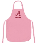 Deluxe University of Alabama Grandma Apron Pink - MADE in the USA!