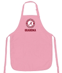 Deluxe Alabama GRANDMA Apron Pink - MADE in the USA!