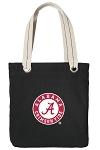 Alabama Tote Bag RICH COTTON CANVAS Black