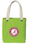 Alabama Tote Bag RICH COTTON CANVAS Green