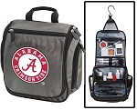 Alabama Toiletry Bag or Alabama Shaving Kit Organizer for Him Gray