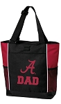 University of Alabama Dad Tote Bag Red