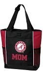 Alabama MOM Tote Bag Red