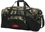 Official University of Arkansas Camo Duffel Bags