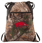 Arkansas Razorbacks RealTree Camo Cinch Pack