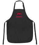 Official University of Arkansas Grandma Apron Black