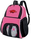 Girls University of Arkansas Soccer Backpack or Arkansas Razorbacks Volleyball Bag