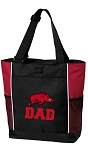 University of Arkansas Dad Tote Bag Red