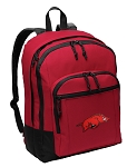 Arkansas Razorbacks Backpack CLASSIC STYLE Red