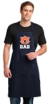 Auburn Dad Apron LARGE Navy