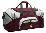 Large Arizona State Duffle Bag Maroon