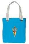 Arizona State Tote Bag RICH COTTON CANVAS Turquoise