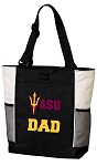 ASU Dad Tote Bag White Accents