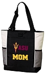 ASU Mom Tote Bag White Accents