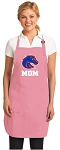 Deluxe Boise State Mom Apron Pink - MADE in the USA!