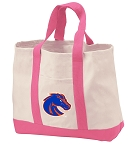 Boise State Tote Bags Pink