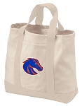 Boise State Tote Bags NATURAL CANVAS