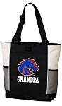 Boise State Grandpa Tote Bag White Accents