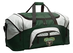 Large Baylor University Duffle Bag Green