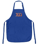 Deluxe Chi O Apron Chi Omega Logo for Men or Women