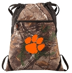 Clemson RealTree Camo Cinch Pack