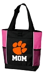 Clemson University Mom Tote Bag Pink