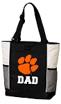 Clemson University Dad Tote Bag White Accents