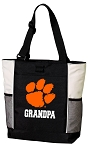 Clemson University Grandpa Tote Bag White Accents