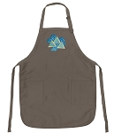 Official Tri Delt Sorority Logo Apron Tan
