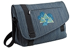 Tri Delt Messenger Laptop Bag Stylish Navy