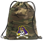ECU Pirates Drawstring Backpack Green Camo