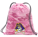 ECU Pirates Drawstring Backpack Pink Camo