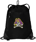 ECU Pirates Drawstring Backpack-MESH & MICROFIBER