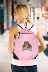 ECU Pirates Drawstring Bag Mesh and Microfiber Pink