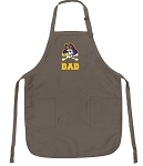 Official ECU Dad Apron Tan