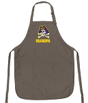 Official ECU Grandpa Apron Tan