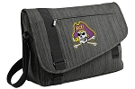 ECU Pirates Messenger Laptop Bag Stylish Charcoal